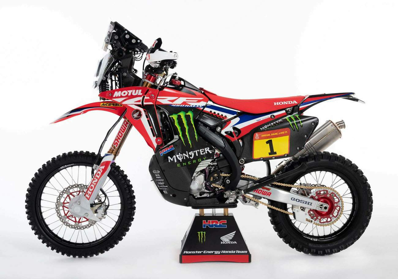 Honda CRF450 Rally technical specifications